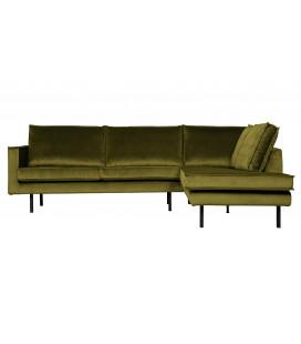 Canapé d'Angle Rodéo Droite Velvet Vert Olive