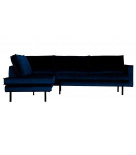 Canapé d'Angle Rodéo Gauche Velvet Bleu Nuit