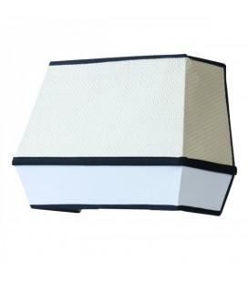 Applique Raphia Blanc