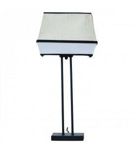 Lampe Raphia Naturel et Tissu Blanc 53 cm