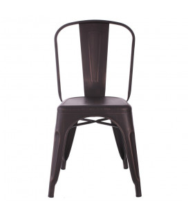 Chaise Dallas Noir Vieilli Or