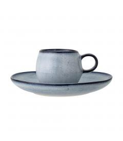 Set de 2 Tasses Expresso Bleu Sandrine Bloomingville