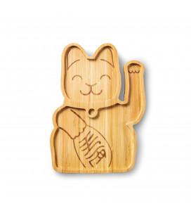 Plat Bambou Lucky Cat