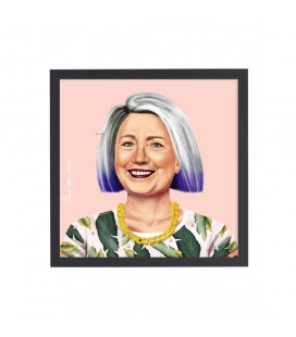 Tableau Hilary Clinton par Amit Shimoni