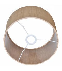 Lampe Lunaire Raphia Pied Métal Noir avec USB