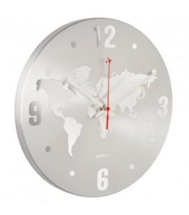 Horloge Monde Silver