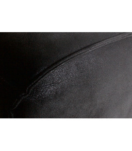 Pouf Large Statement Tissu Suédine Noir