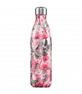 """Bouteille Isotherme 750ml Acier """"Flamingo"""" Chilly's"""