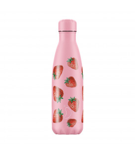 "Bouteille Isotherme 500ml Acier ""Icons Strawberry"" Chilly's"