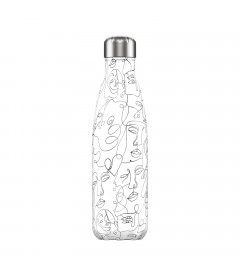 "Bouteille Isotherme 500ml Acier ""Line Art Faces"" Chilly's"