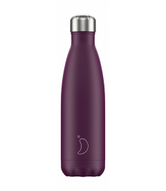 """Bouteille Isotherme 500ml Acier """"Violet Mat"""" Chilly's"""