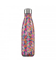 """Bouteille Isotherme 500ml Acier """"Floral Wild Roses"""" Chilly's"""