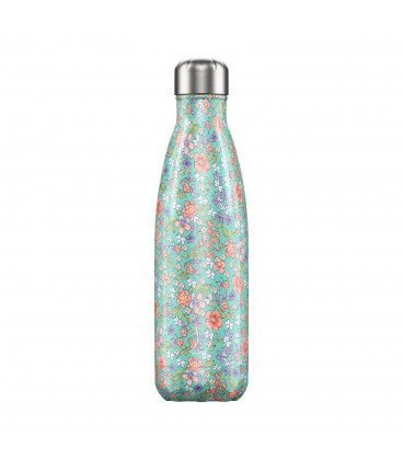 """Bouteille Isotherme 500ml Acier """"Floral Wild Peony"""" Chilly's"""