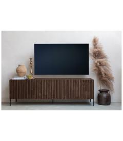 Meuble TV Gravure 180 cm Frêne Brun