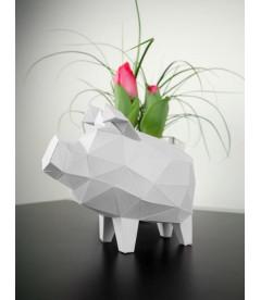 Cochon Tirelire Blanc DIY - Colle Offerte