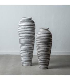 Vase XXL Paxos Blanc & Noir Céramique 100cm