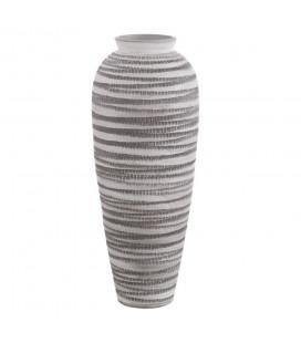 Vase XL Paxos Blanc & Noir Céramique 80cm