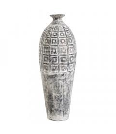 Vase XXL Paxos Gris Terre Cuite 100cm