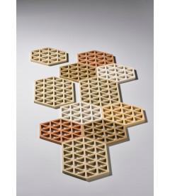 Dessous De Plat Triangles Kaki en Silicone