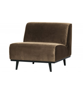 Fauteuil Large Statement Tissu Velours Taupe