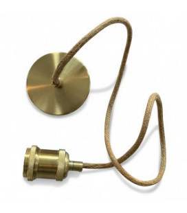 Suspension Libellule Bambou Ø55cm et Câble Corde Douille Laiton