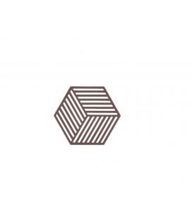 Dessous De Plat Hexagone Chocolat en Silicone