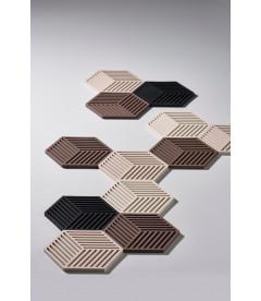 Dessous De Plat Hexagone Desert en Silicone