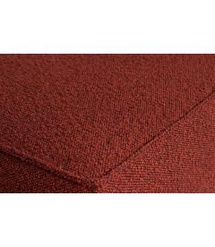 Canapé d'Angle Gauche Statement Tissu Bouclé Chestnut