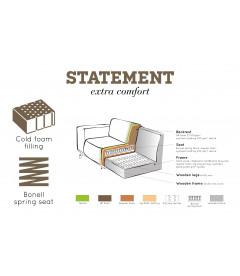 Canapé d'Angle Droite Statement Tissu Bouclé Chestnut