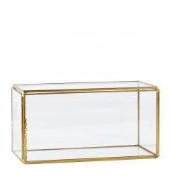Boîte en verre et laiton