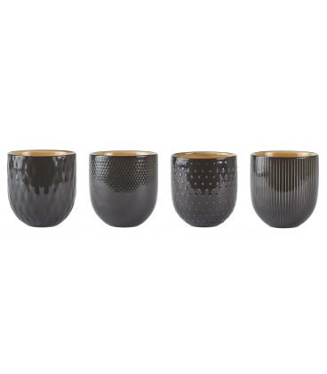 Set de 4 Pots DarkGrey Assortis Villa Collection Denmark