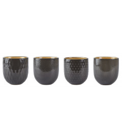 Set de 4 Pots DarkGrey Assortis Villa Collection Denmark