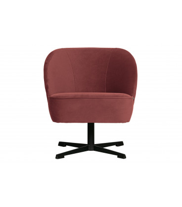 Fauteuil Pivotant Vogue Velours Chestnut