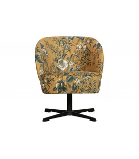Fauteuil Pivotant Vogue Velours Poppy Moutarde