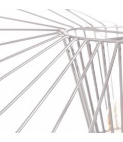 Suspension Filaire Libellule Métal Blanc 72cm
