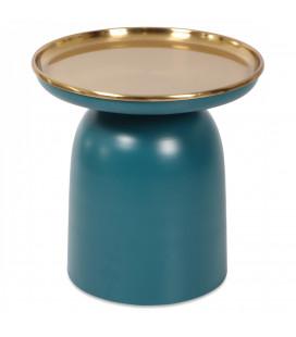 Bout de Canapé Blue Gold Métal