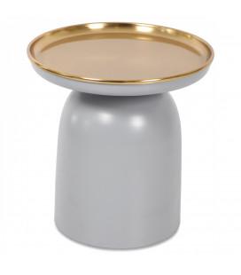 Bout de Canapé Grey Gold Métal
