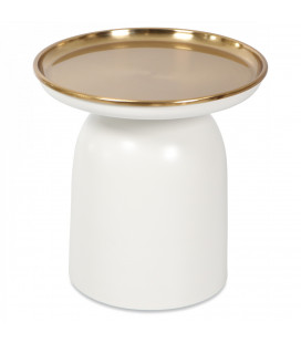Bout de Canapé White Gold Métal