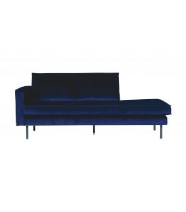 Méridienne Rodéo Gauche Velvet Bleu Nuit