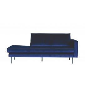 Méridienne Rodéo Droite Velvet Bleu Nuit