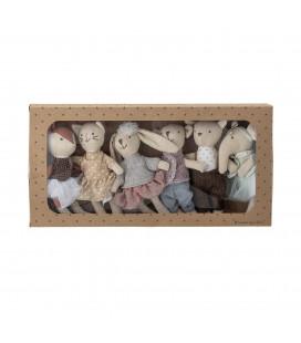 Ensemble de 6 Mini-jouets Peluche Jeffrey Bloomingville