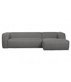 Canapé d'Angle Droit Bean en Tissu Gris Moyen