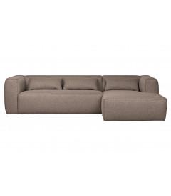 Canapé d'Angle Droit Bean en Tissu Taupe
