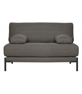 Fauteuil Sleeve Loveseat Lin/Coton Gris Anthracite
