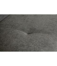 Canapé d'Angle Droit Presley en Tissu Microchenille Gris