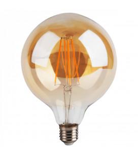 Ampoule Globe LED 8W Vintage Filament Vertical Finition Ambré D.175mm