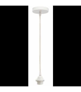 Câble pour Suspension en corde et métal Blanc douille H.110cm