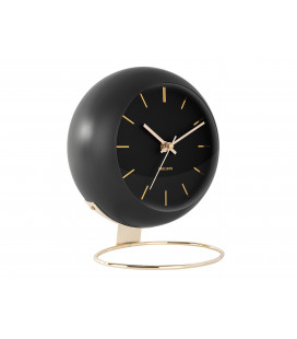 Horloge XL Globe Noir Karlsson H.24,5cm