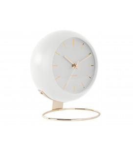Horloge XL Globe Blanche Karlsson H.24,5cm