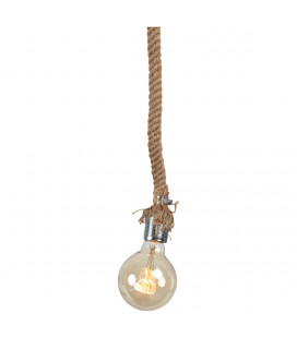 Lampe Corde + Ampoule Globe Edison Filament H12cm